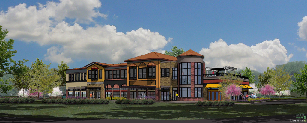 a featured design for the retail building in liberty park